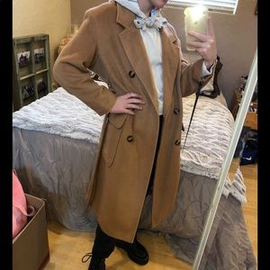 BooHoo Brushed Double Breasted Trench Coat